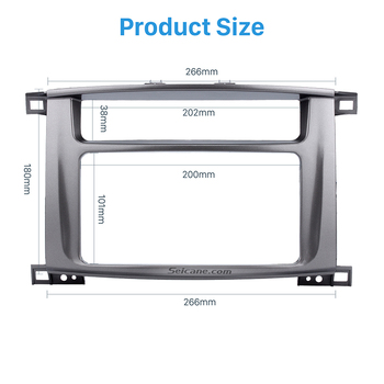202 Seicane*1999-2008 Toyota LAND CRUİSER 100 Lexus LX için Trim 102mm Çift Din Araba Radyo Fasya Surround Panel-470 Bezel DVD